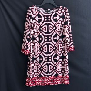 Laundry by Design Dress Black and Red Tunic Style